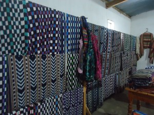 part 3 process showing jaspe weaving