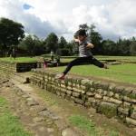 mateo jumping at iximche_july 2017