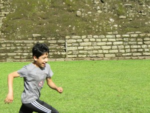 mateo running at iximche